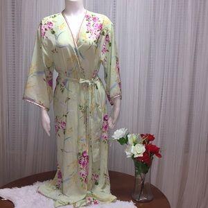 Oscar de la Renta Pink Label Floral Robe Size S-M